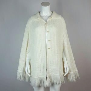 Vintage Cream Knit Cape